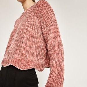 Zara Knit Chenille Sweater